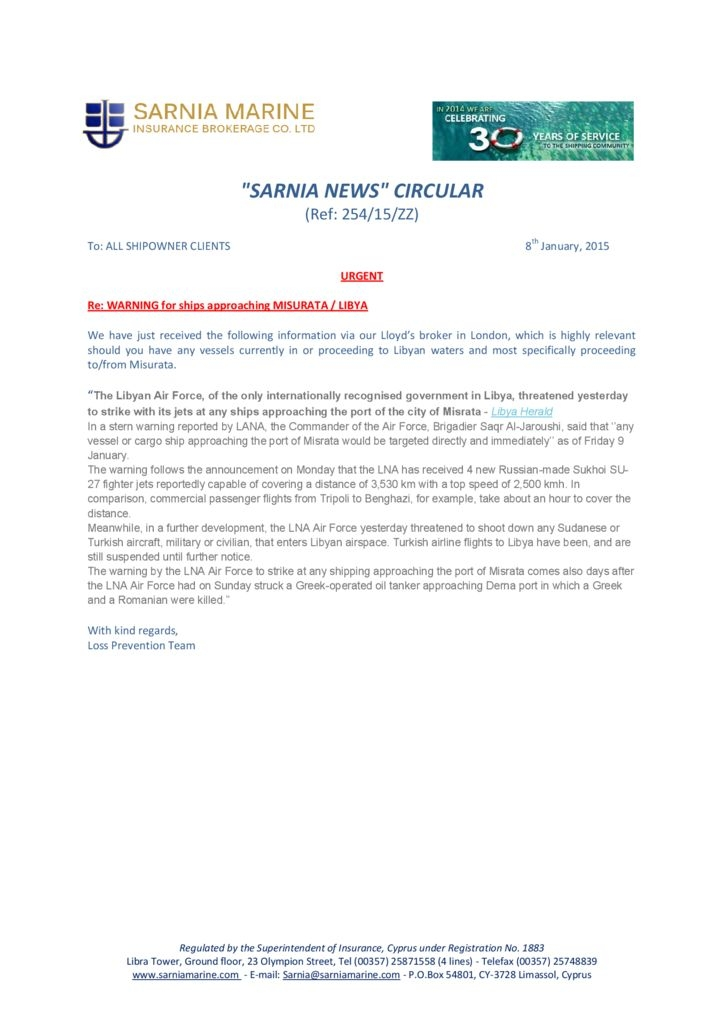 thumbnail of 254-WARNING-for-Ships-approaching-MISURATA-LIBYA-Sarnia-Circular-15-ZZ